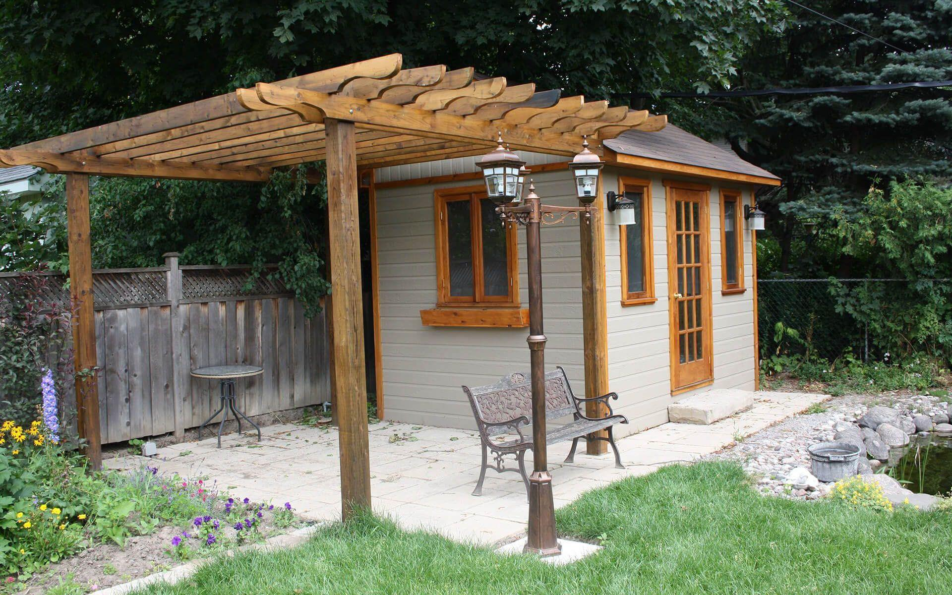 8 x 12 Palmerston garden shed with adjoining trellis