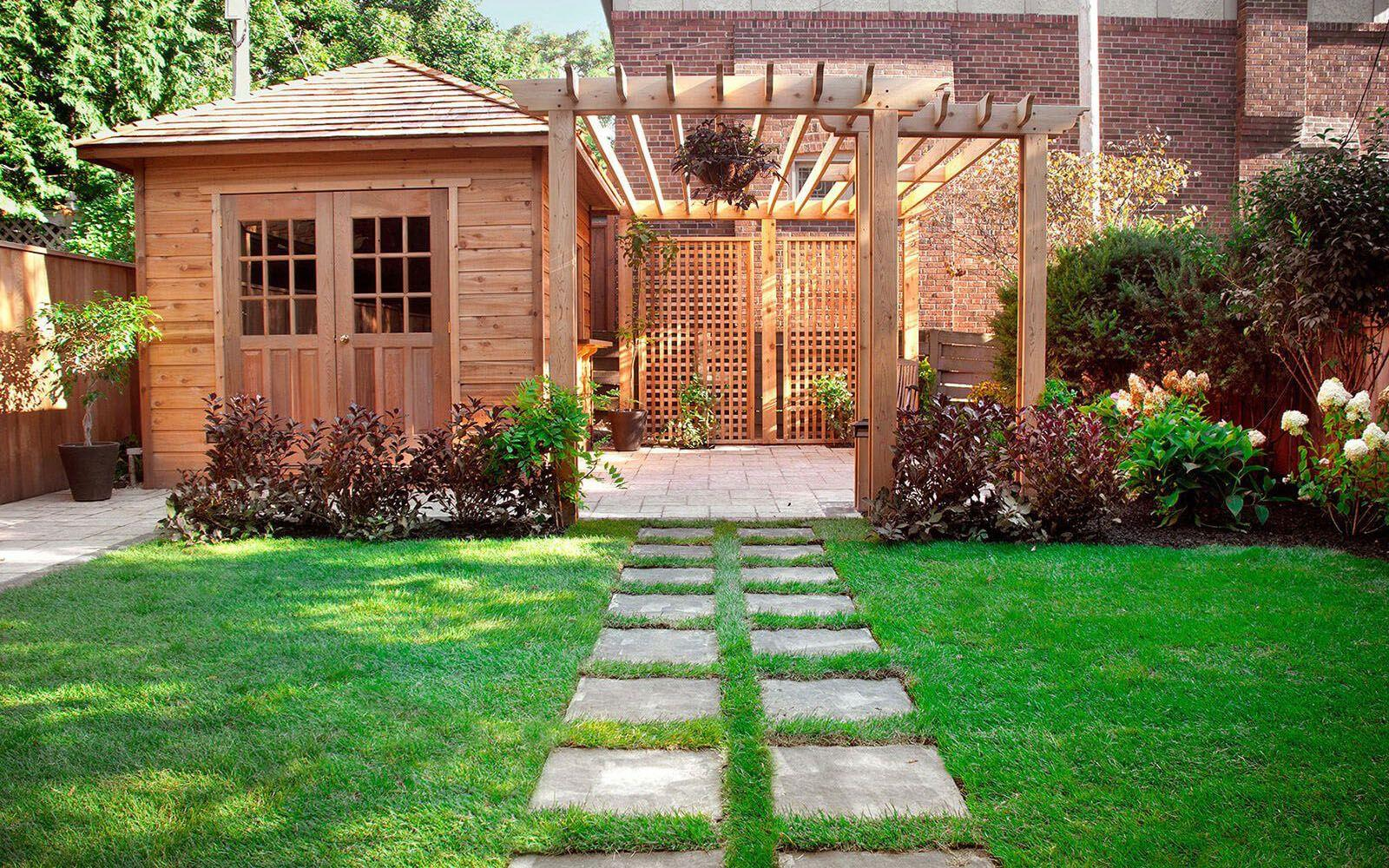 10 x 10 Sonoma shed with stunning landscape and trellis. ID number 164117